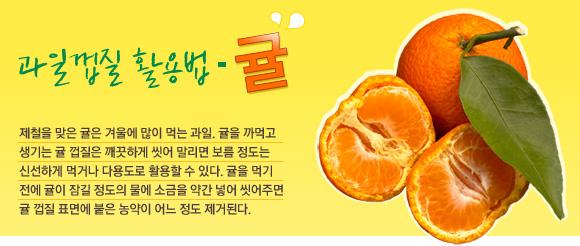 과일껍질 활용법-귤