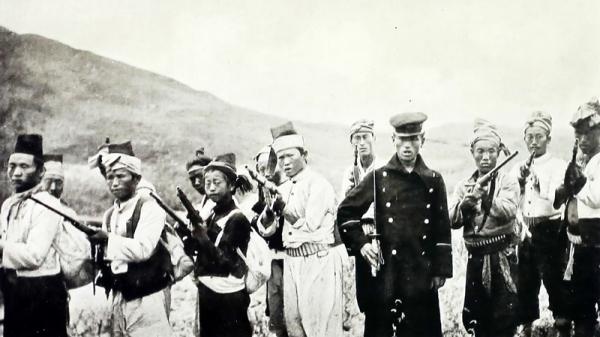 ▲ 영국 '데일리 메일(Daily Mail)' 종군기자로 한국에 왔던 프레드릭 아서 맥켄지(Frederick A. Mackenzie)가 촬영한 '항일의병'의 모습. 프레드릭 아서 맥켄지